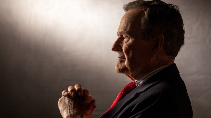 Former President George H.W. Bush is