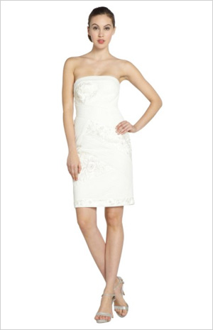 Shop the look: Sue Wong White Chiffon Strapless Sequin Dress (bluefly.com, $222)