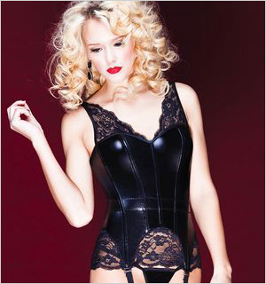 Lingerie Diva's Lace and Leather corset