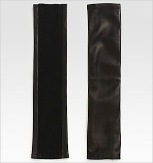 Cut 25 by Yigal Azrouel Fingerless Leather Gloves.