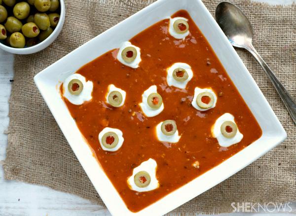 Ghoulish monster eyeball soup