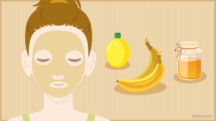 A DIY banana face mask your