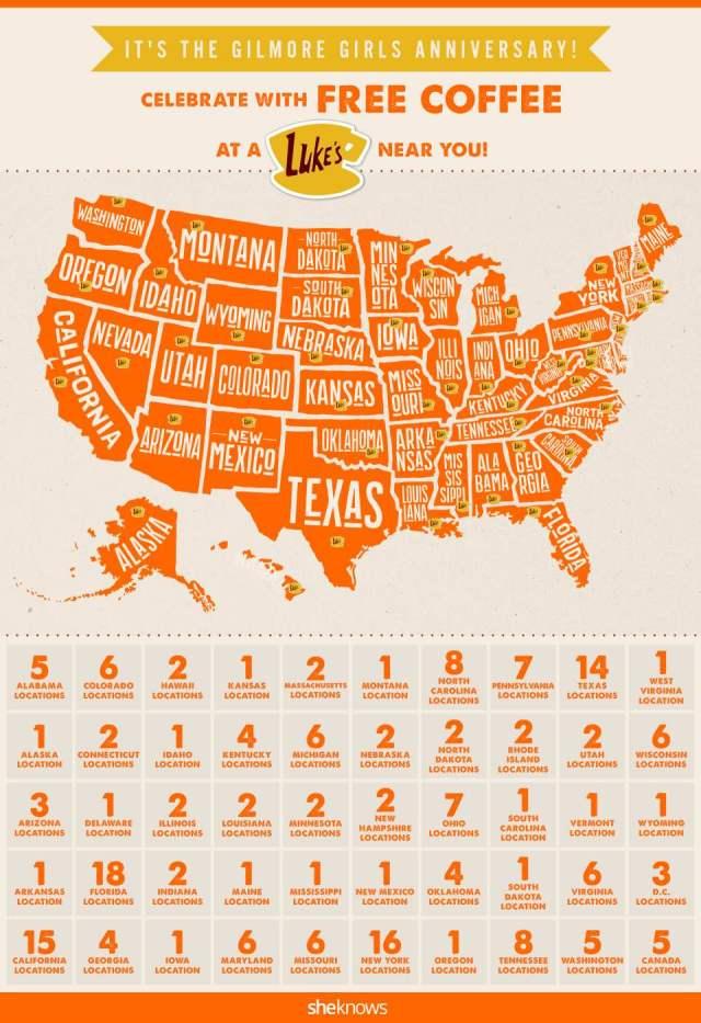 Gilmore Girls map