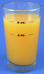 Natural Weight Portion Control Serving Glass