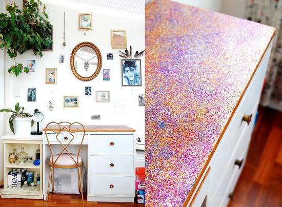 Glitter desk