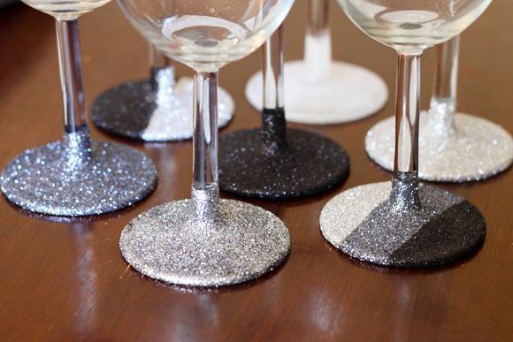 Glittered stemware
