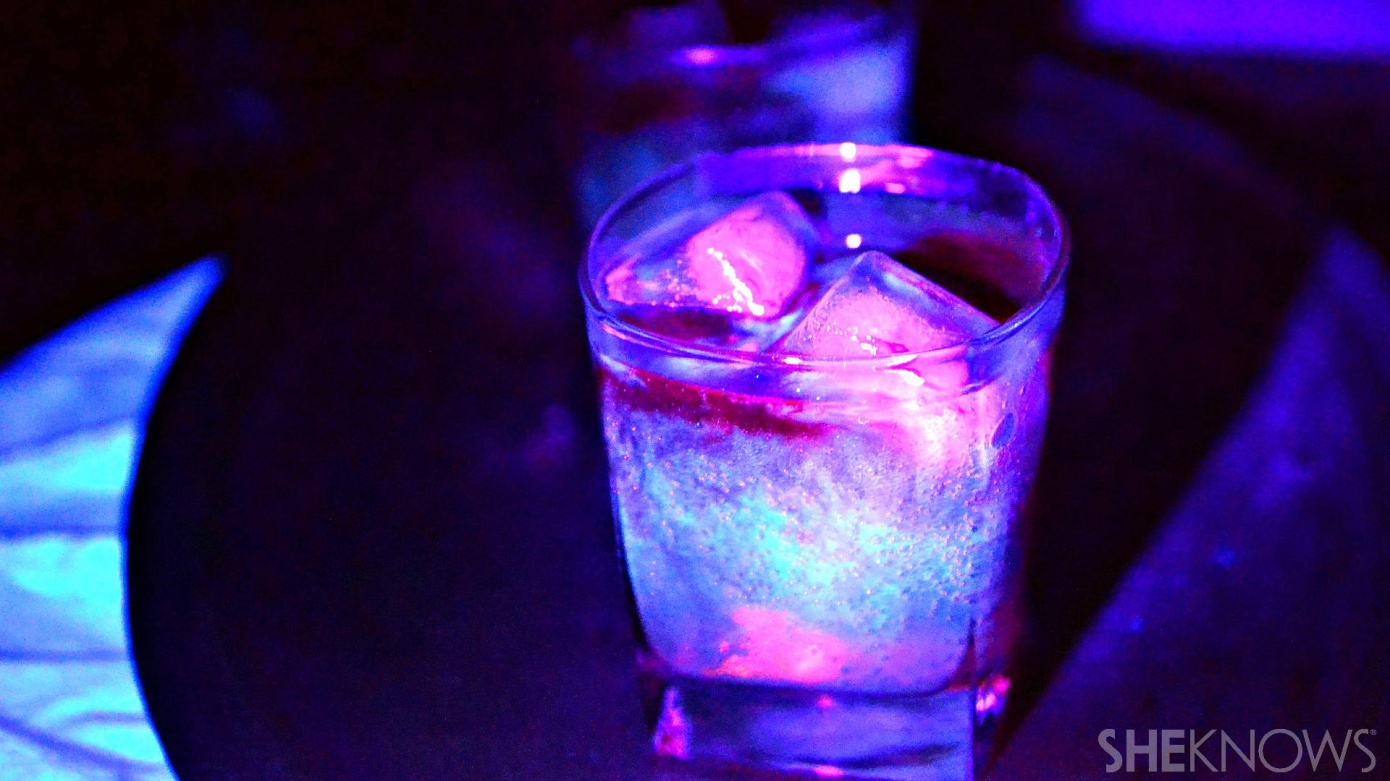 glow-in-the-dark cocktail