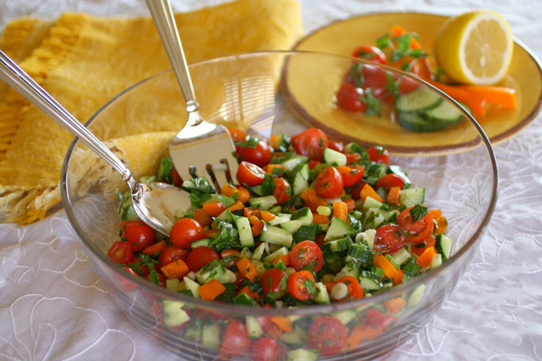 Gluten-free Friday: Classic Israeli Salad