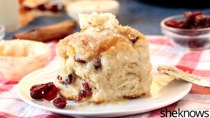 Cranberry-cinnamon skillet biscuits make winter mornings