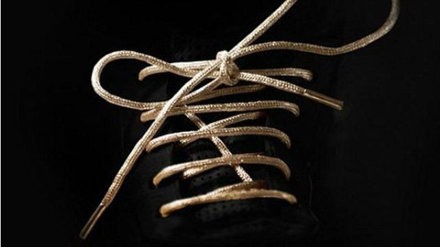 gold shoelaces