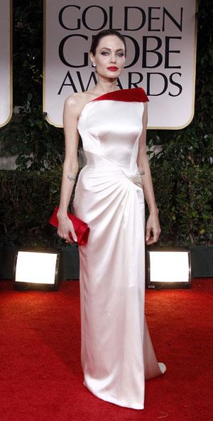 Golden Globes Best Dressed Angelina Jolie