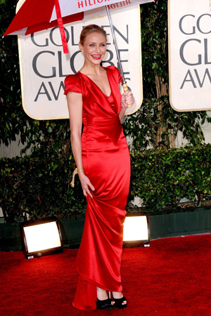 Cameron Diaz at the Golden Globes