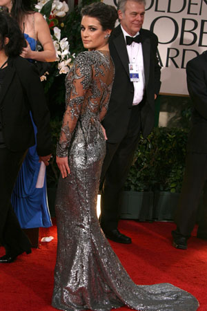 Lea Michele at the Golden Globes