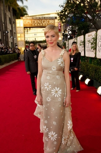 Michelle Williams at the 2011 Golden Globes