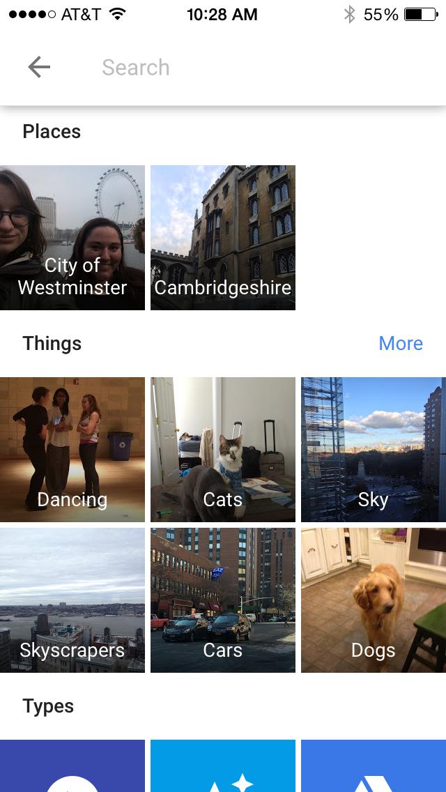 google-photos-categories