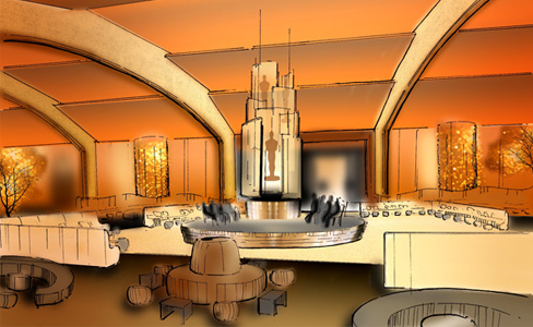 Rendering of Governor's Ball