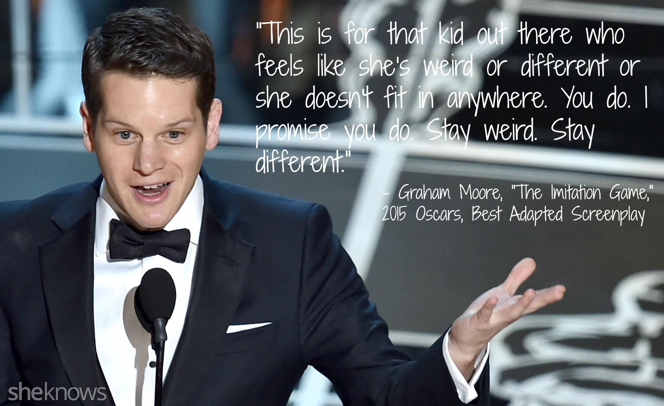 Graham Moore Oscars speech