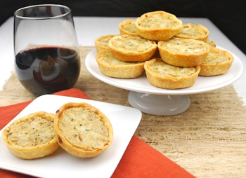 Caramelized onion and Gruyere tartlets