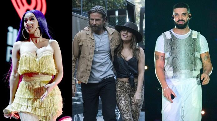 Cardi B, Bradley Cooper, Lady Gaga,