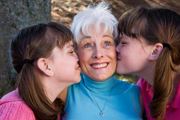 Grandma with grandkids