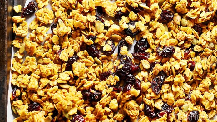 Gluten-free pumpkin granola will replace your