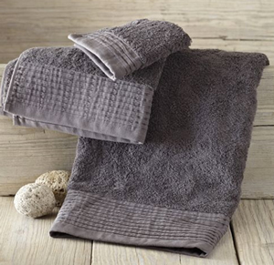 Loving this now: Add one of spring's top shades to your bathroom with these stylish, organic pleated edge towels in slate grey (westelm.com, $6 to $19).