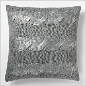 Gilded cable pillow cover