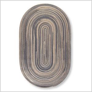 Bean's braided wool rug