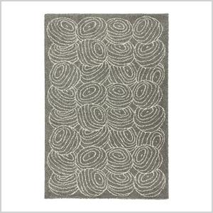 Nordis gray high pile rug