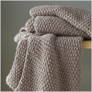 Eileen Fisher baby alpaca knit throw