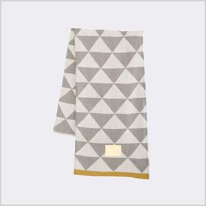 Gray remix cotton blanket