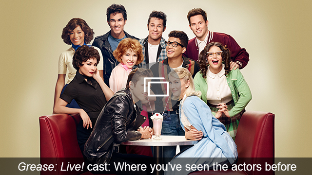 grease live cast slideshow