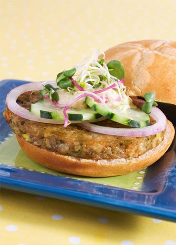 Greek spinach veggie burger