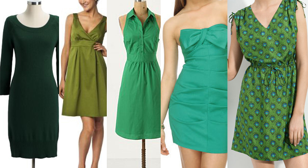 5 Green dresses for St. Patrick's Day
