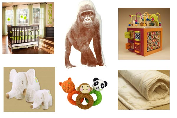 Green nursery items