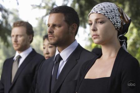 Katherine Heigl has reason to be sad on Grey's Anatomy in 2009