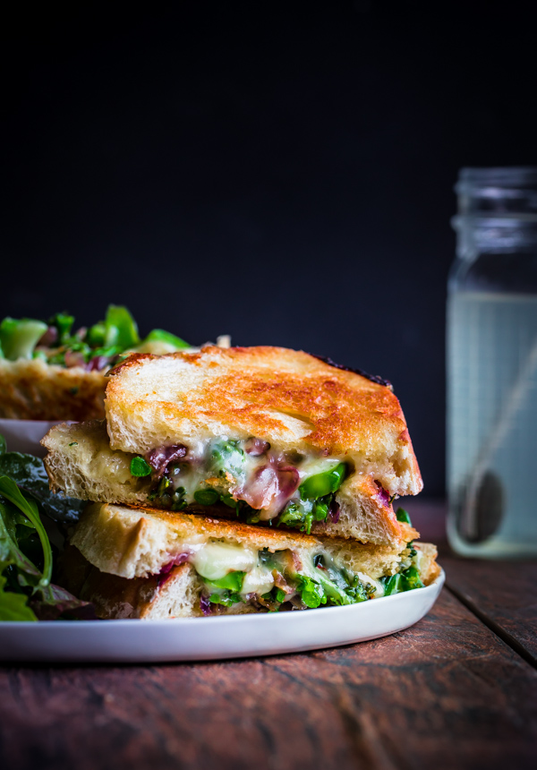 broccolini grilled cheese