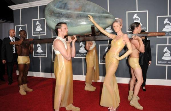 Outrageous fashions from the Grammys