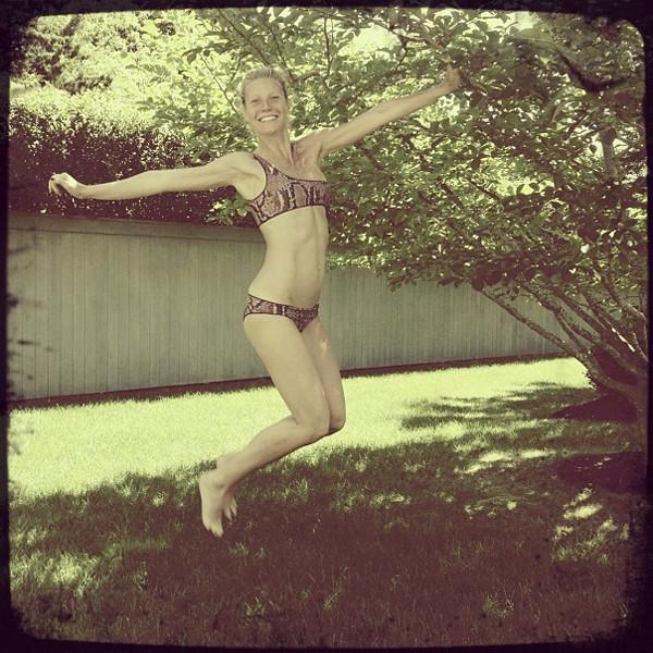 Gwyneth Paltrow snakeskin bikini Stella McCartney