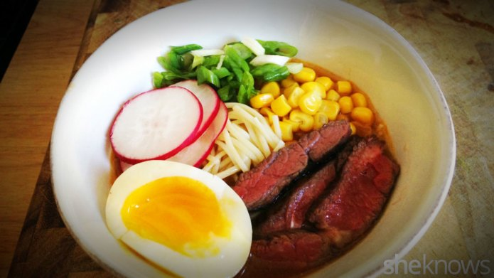 Easy no-fuss ramen with skirt steak