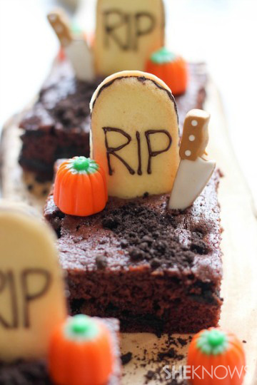 Halloween Oreo Brownies