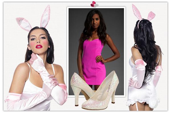 Vibrant bunny Halloween costume