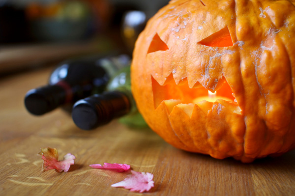 Pumpkin and wine