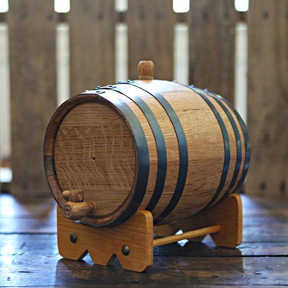 handmade oak barrel