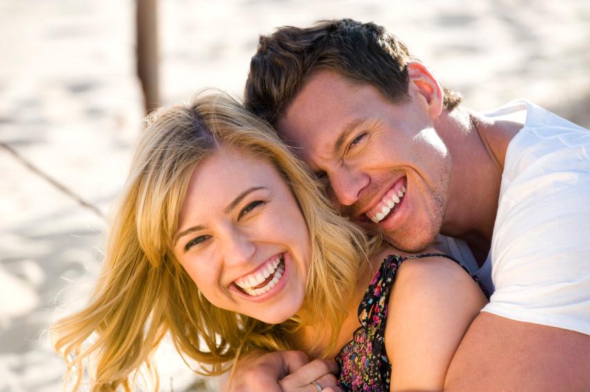 Couple enjoying stress free relationship