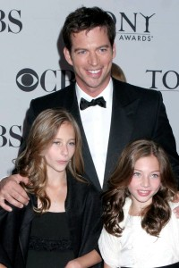 Harry Connick Jr and his daughters