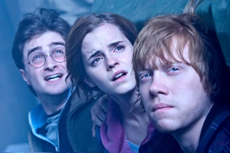 Daniel Radcliffe, Emma Watson and Rupert Grint in Harry Potter and the Deathly Hallows, Part 2