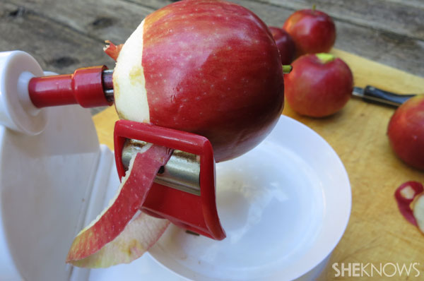 Peel the apples | Sheknos.ca - step four