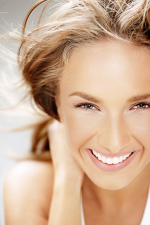 Woman with healthy summer glow