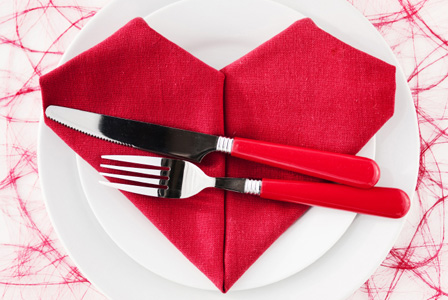 Heart placesetting